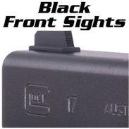 Glock Front Sights, BLACK, TARGET