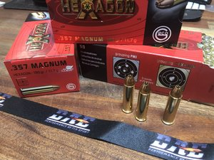 GECO .357 Magnum 180 Grain HEXAGON, 50 ptr