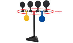 Round Pole for Plastic Target