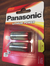 Batteri Panasonic CR123A, 2 pack