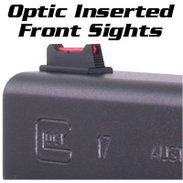 Glock Front Sights, FIBER OPTIC