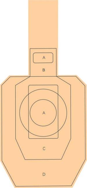 Övningstavla 46x90cm miniwell Metric med A, B, C, D-Zon
