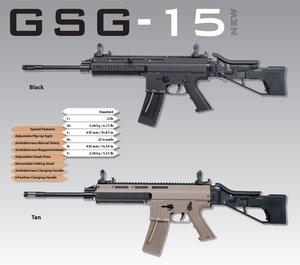 GSG Kulgevär GSG-15 .22Lr, BLK