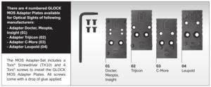 Glock MOS Adapter set 01