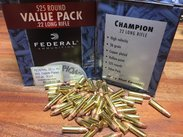 Federal .22 Lr, High Velocity, 525 ptr Value Pack