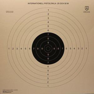 Nationell Pistoltavla med slitsar, 60x60 cm