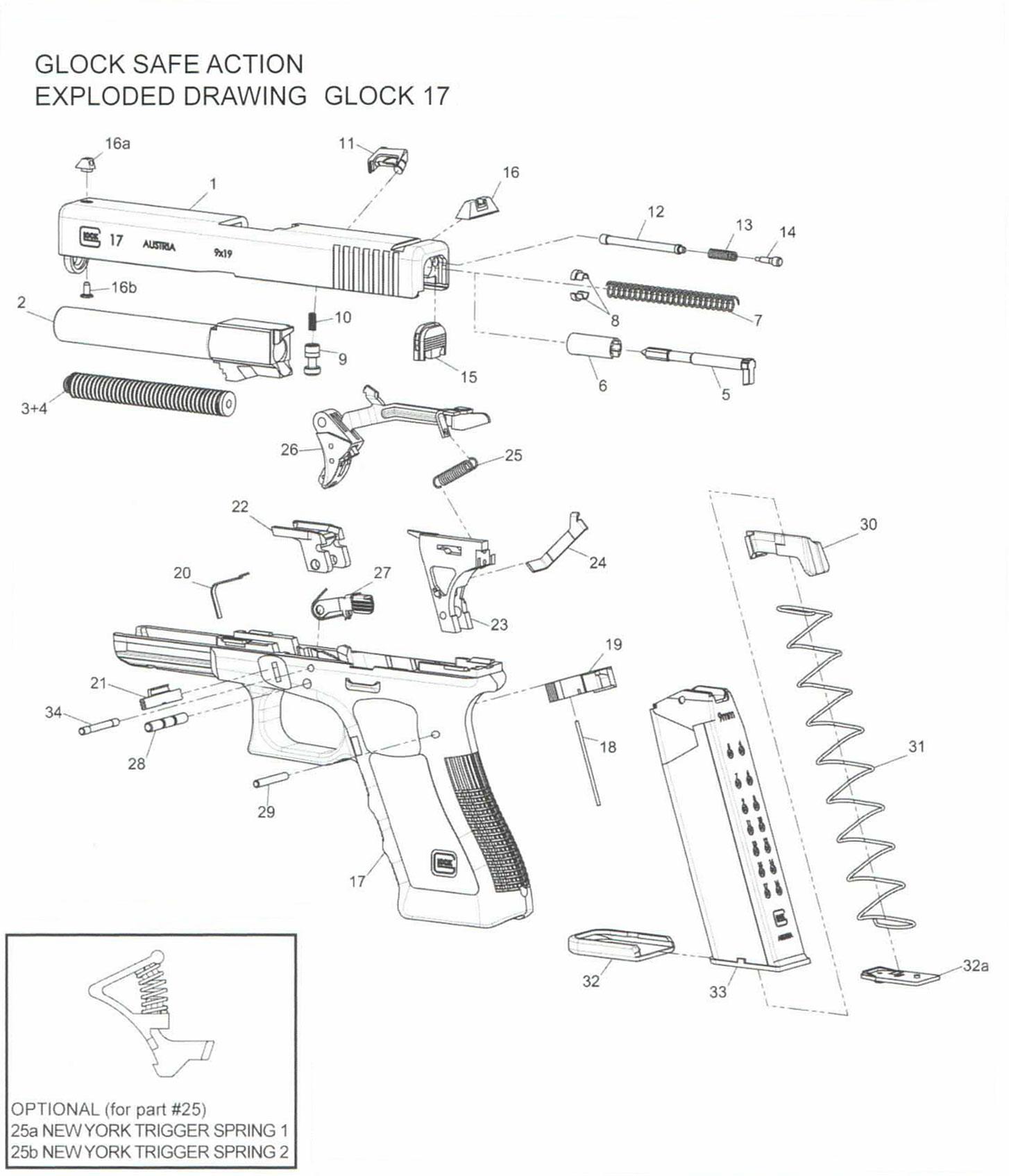 F&K Sport Sweden AB - Glock 17 Reservdelar